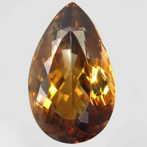 16.91 Carats NATURAL Imperial TOPAZ for Setting 19.8x12.0x9.7 UNHEATED Pear IF