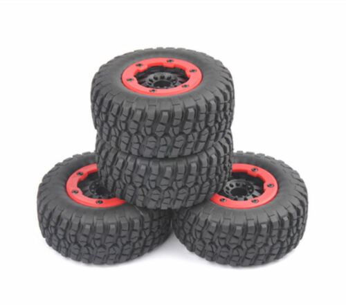 4Pcs Bead-Lock Tire Wheel Rim For HPI HSP 1:10 RC Short Course Car TRAXXAS Slash