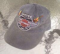 HARLEY DAVIDSON MOTORCYCLES Gray Baseball Cap Hat