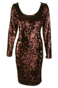 2b594bc1 Calvin Klein NWT Elegant COPPER Sequin Metallic Long-Sleeve Sequined ...