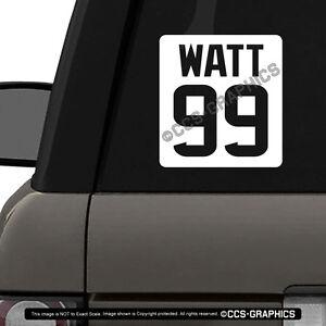 Details About J J Watt 99 Decal Houston Texans Car Window Sticker Nfl Buy 2 Get 1 Free Mvp
