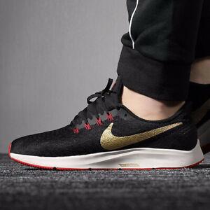 Details about Nike Air Zoom Pegasus 35 Running (Men's Size 8 & 12) Black Gold 942851 018