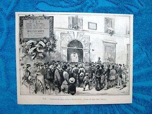 Roma-nel-1882-Inaugurazione-della-lapide-a-Walter-Scott