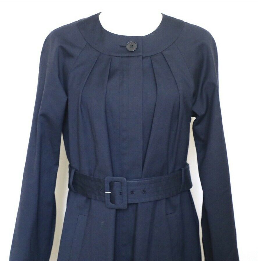 THEORY Women's Navy Blue Idola Connect Trench Coa… - image 2