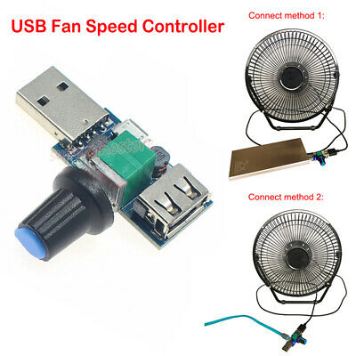 USB Fan Governor Speed Controller 4~12V Regulator Multi-stall Switch Module BE