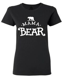 Mama-Bear-Small-Bear-Women-039-s-T-Shirt-Mother-039-s-Day-Mom-Life-Mama-New-Mom-Shirts