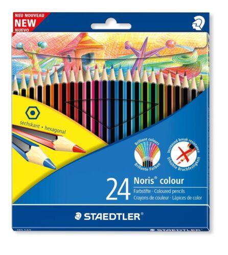 Staedtler 24 Noris Wopex Hexagonal Colour Pencils Set Buy 2 Get 10/% off!
