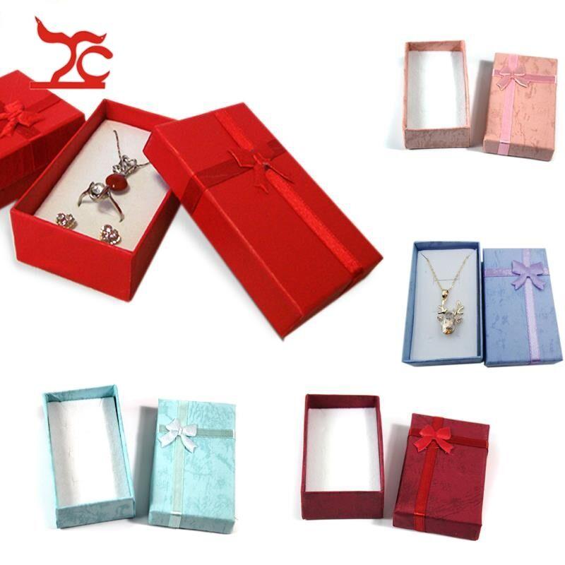 Black Paper Package Case Ring Necklace Earrings Bracelet Jewelry Gift Box Fad RI