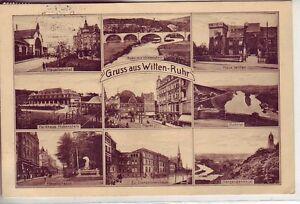 uralte-AK-Gruss-aus-Witten-Ruhr-Mehrbild-AK-1927-Bahnhof-Hauptstrasse
