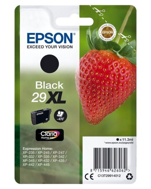 Original Epson 29XL / T2991 Tintenpatrone Schwarz/Black 11,3 ml ca. 470 Seiten