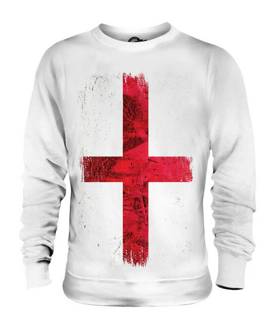 ENGLAND ST GEORGE GRUNGE FLAG UNISEX SWEATER TOP ENGLISH FOOTBALL GIFT SHIRT