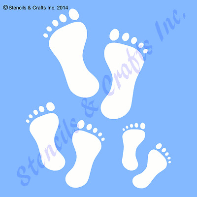 "FOOTPRINT STENCIL BABY FOOTPRINTS STENCILS TEMPLATES CRAFT TEMPLATE NEW 4/"" X 5/"""