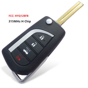Replacement Flip Remote Key 4B for Toyota Camry 2018  - FCC: HYQ12BFB - H CHIP