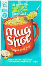 Mug Shot Noodle Snack Chicken & Sweetcorn 5 x 54g - Will Ship Worldwide From UK