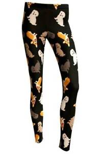 Women-039-s-Alternative-Black-Cute-Dog-Puppies-Print-Leggings-Goth-Emo-Size-8-22