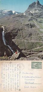1966-GIANTS-ROAD-amp-STIGFOSSEN-FALLS-NORWAY-COLOUR-POSTCARD