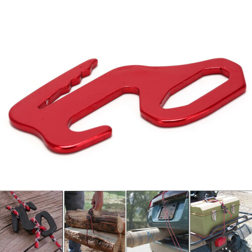 Red Rope Tightener Tie Down Strap Tool Al Alloy Camping Tent Rope Buckle  AlCYC