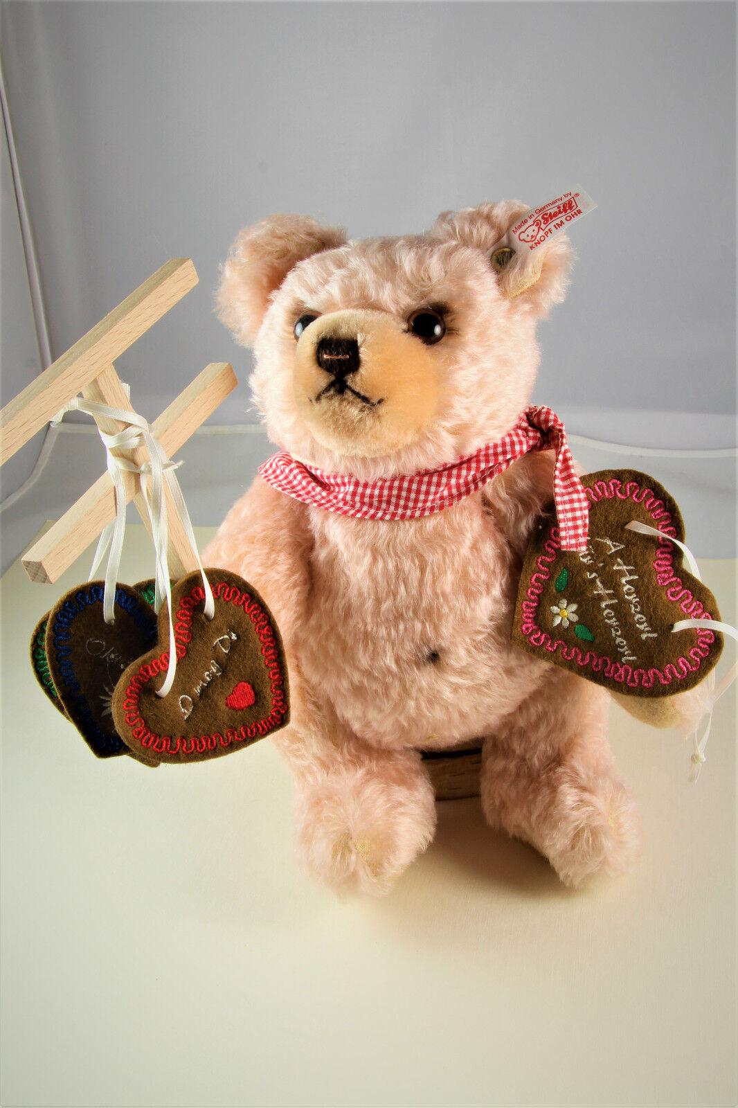 STEIFF Teddybär Herzl-Verkäuferin rose 25 cm 2013 Nr.407/1000 EAN 673702