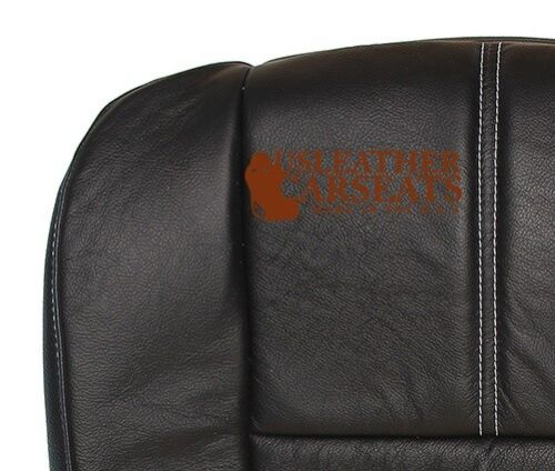 2009 Ford F250 F350 Lariat Driver Bottom Replacement Leather Seat Cover Black