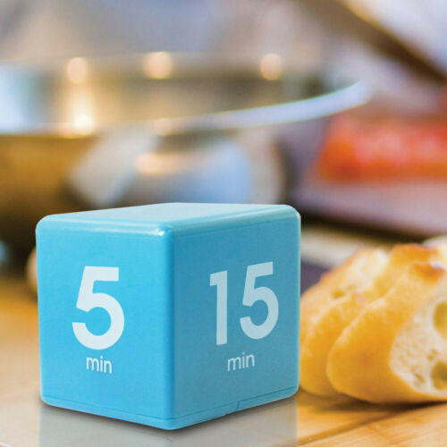 Home Clock Timer Digital 5//15//30//60 Minutes Alarm Cube Time Modern Management