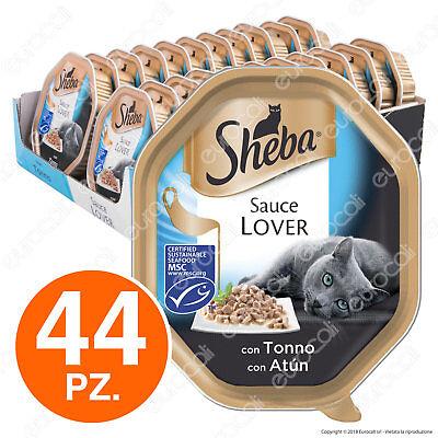Sheba Sauce Lover Cibo per Gatti con Tonno in Salsa - 44 Vaschette da 85g