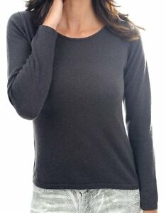 cashmere donna veli Xl antracite 2 100 Balldiri maglione girocollo 4tTBwg5nqx