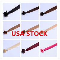 Usa Stock Full Head Indian Remy 26inch Nail Tip Human Hair Extensions,100s,1g/s