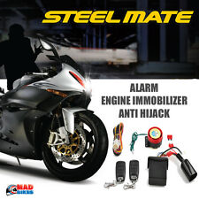 Genuine Steelmate Motorcycle Alarm & Immobilizer Anti Theft Security System