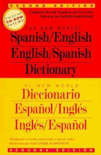 The New World Spanish-English, English-Spanish Dictionary by Andrew  Morehead (1996, CD-ROM / Hardcover, Revised)