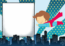 30 Superhero Cards For Invitation Or Thank You Notes Birthday Baby Shower A1