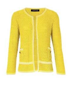 Genieße den kostenlosen Versand online Shop Großhandel Details zu Patrizia Dini Designer Cardigan gelb Strickjacke Gr 34 bis 46