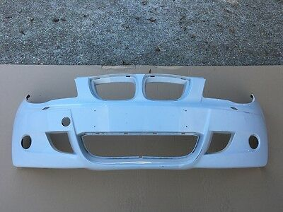 BMW 1 SERIES M SPORT E81 E87 HATCH BACK 2004-2010 FRONT BUMPER IN WHITE [Z45]