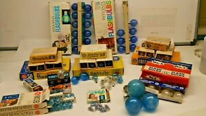 Vintage Lot Flash Bulbs Blue Dot Clear Sylvania 25B Westinghouse GE No. 5 5B M3B