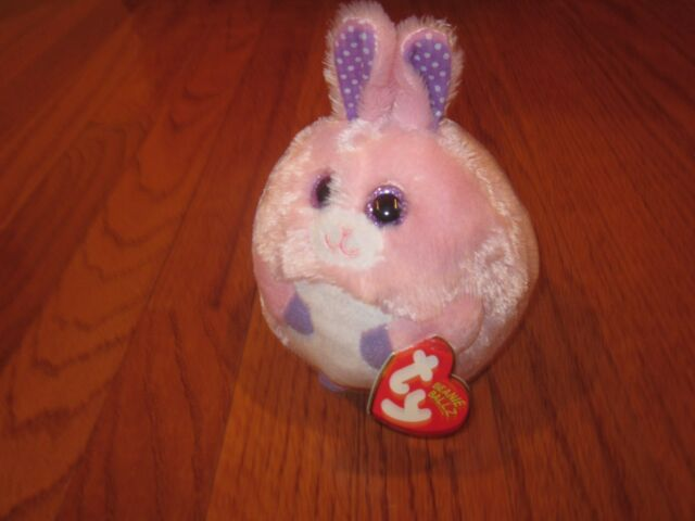 Ty Beanie Ballz Carnation - Pink Bunny  e1f7eae6adc