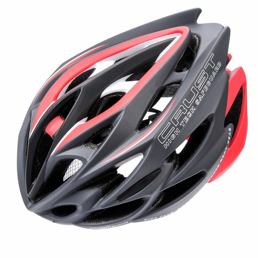 Hive Outdoor crust Bicicletta Casco inmould casco bicicletta en1078 Rosso Grigio Nuovo M L