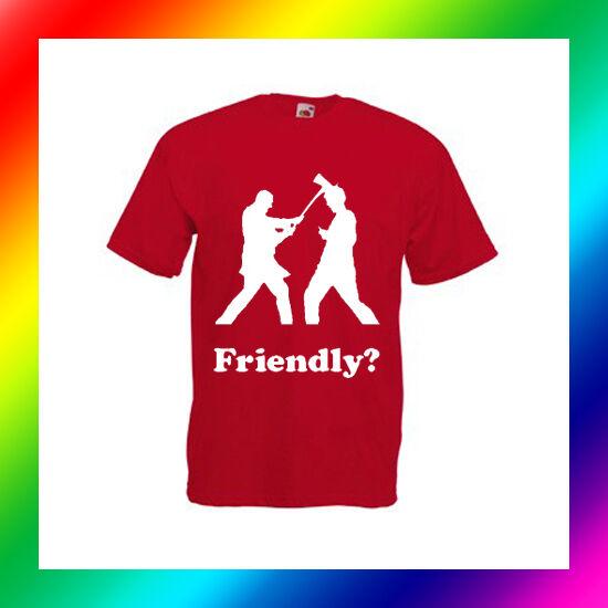 FRIENDLY AXE WIELDER - FUNNY DAYZ INSPIRED MENS GAMER ZOMBIE T-SHIRT
