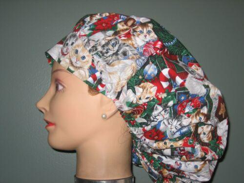 Surgical Scrub Hats//Caps Christmas Adorable Christmas Kittens