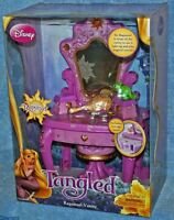Disney Tangled Rapunzel Vanity W/ 4 Accessories Light Up And Makes Sounds