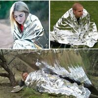Foil Space Thermal Emergency Survival Blanket First Aid Rescue Waterproof New
