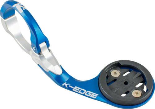 K-EDGE Garmin Race Handlebar Mount Blue//Silver 31.8mm