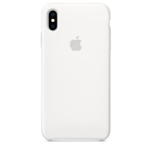 Echt-Original-Apple-iPhone-XS-Silikon-Huelle-Silicone-Case-White-Weiss