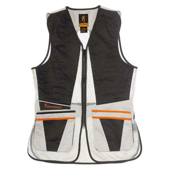 Browning Ultra Shooting Vest Beige Clay Pigeon Shotgun Skeet Trap Shooting