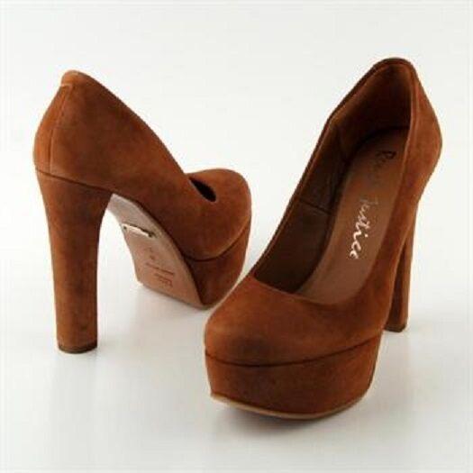 Para Mujer zapatos  de Estilo: tacón alto por Rough Justicia Estilo: de Kara: óxido De Terciopelo De Color d6dcdf