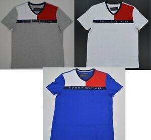 NWT-Men-039-s-Tommy-Hilfiger-Short-Sleeve-Color-Block-Tee-T-Shirt-S-M-L-XL-XXL