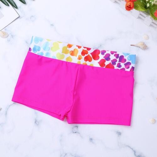 Kinder Mädchen Herz Druck Badeanzug Bademode Tankini Bikini Set Tops mit Shorts