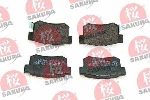 SAKURA Bremsbelagsatz Scheibenbremse 601-40-6670 für ROVER HONDA