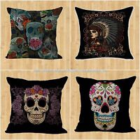Wholesale 4pcs Sugar Skull Day Of The Dead Replacement Patio Cushion Cover