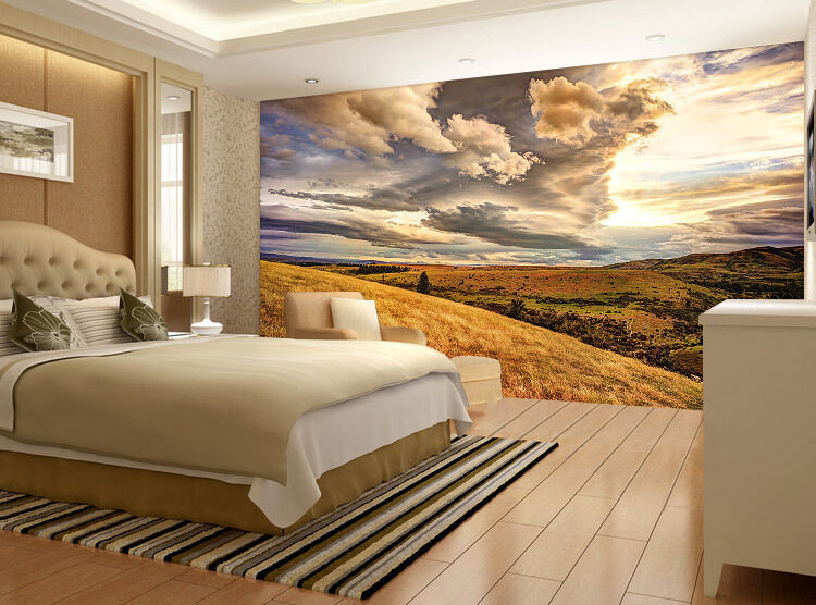 Colourful Sky Over Moutains Full Wall Mural Photo Wallpaper Print Home 3D Decal