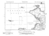 Old map of Polzeath, Hayle Bay 1938 - Cornwall, repro 13-SE-18-NW-NE