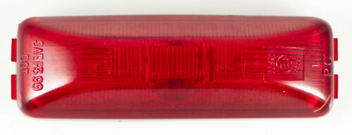"""Red 4/"""" Inch Rectangle Truck Semi Trailer Sealed Side Marker Clearance Light 1"""